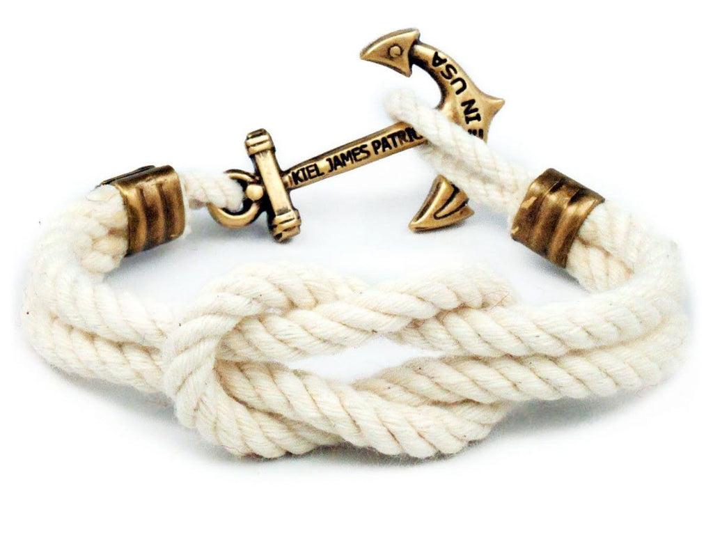 Cape Knot Hitch - Kiel James Patrick Anchor Bracelet Made in the USA