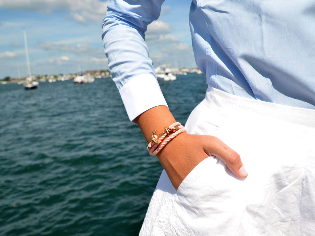 Castaway Fleet - Kiel James Patrick Anchor Bracelet Made in the USA