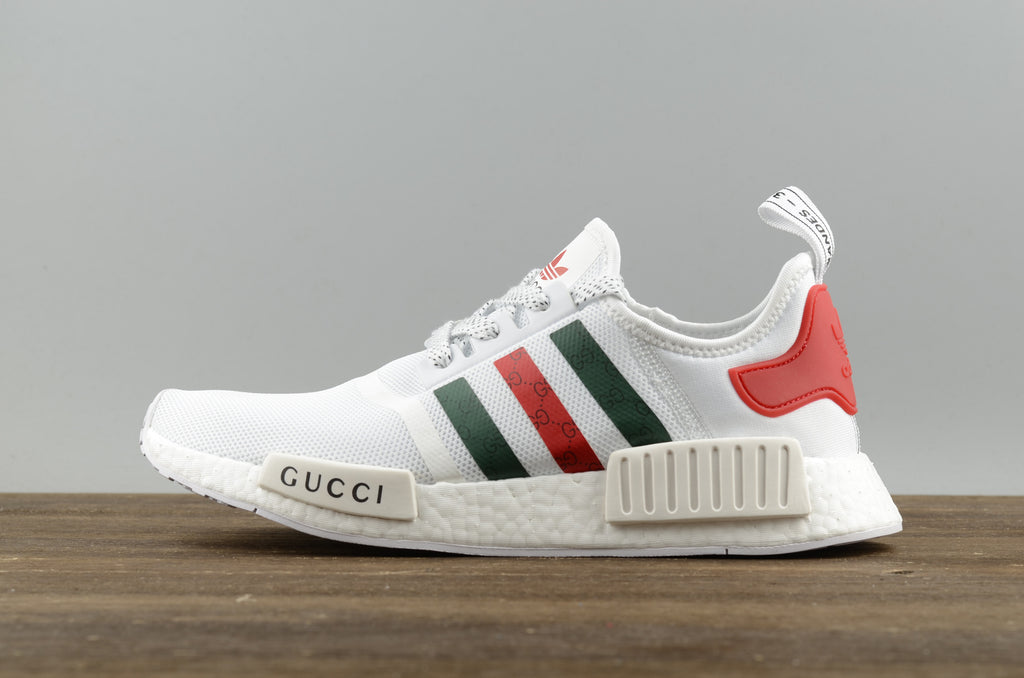 brand new 78b2b f7f64 ... adidas nmd r1 gucci golden bee edition. mens fashion footwear