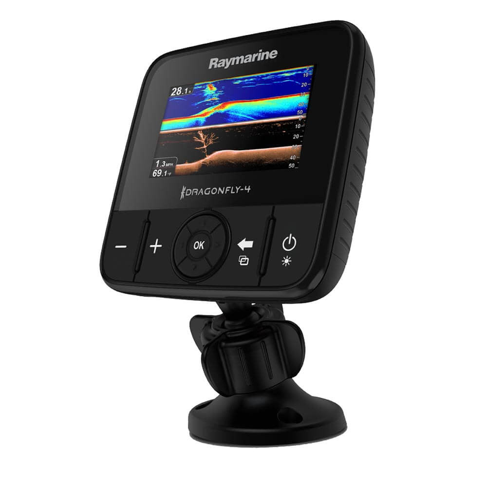 Raymarine Dragonfly 4DVS with T/M Transducer CHIRP DownVision™ & Regular Sonar