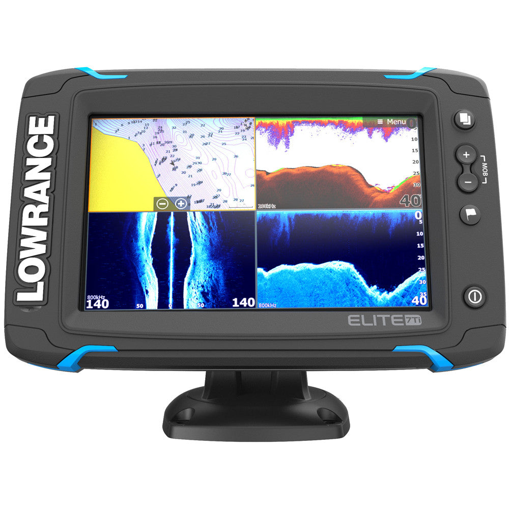 Lowrance Elite-7 Ti Touch Combo - 83/200/455/800 HDI Transom Mount Transducer