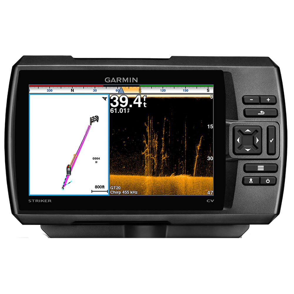 Garmin Striker 7cv Fishfinder with 77/200kHz/ClearVü