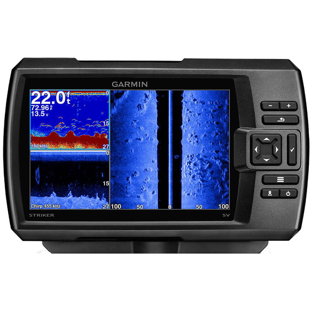 Garmin Striker 7sv Fishfinder wHigh Wide CHIRP, 150/200kHz ClearVü/SideVü