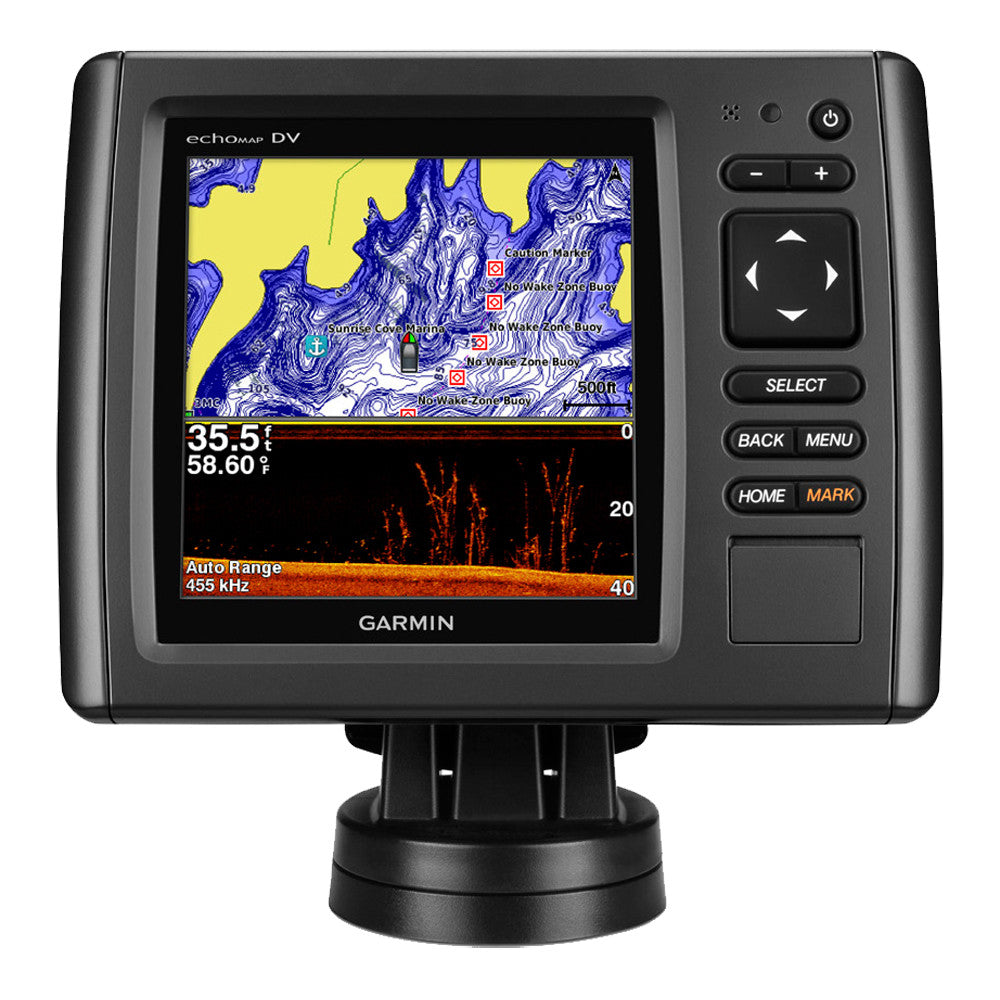 echoMAP™ CHIRP 53dv with U.S. LakeVü™ Maps & Wide CHIRP DownVü™ 455/800kHz Transducer