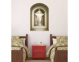 Jesus 3D WALL Stickers, NICHE illusion set, Removable Vinyl