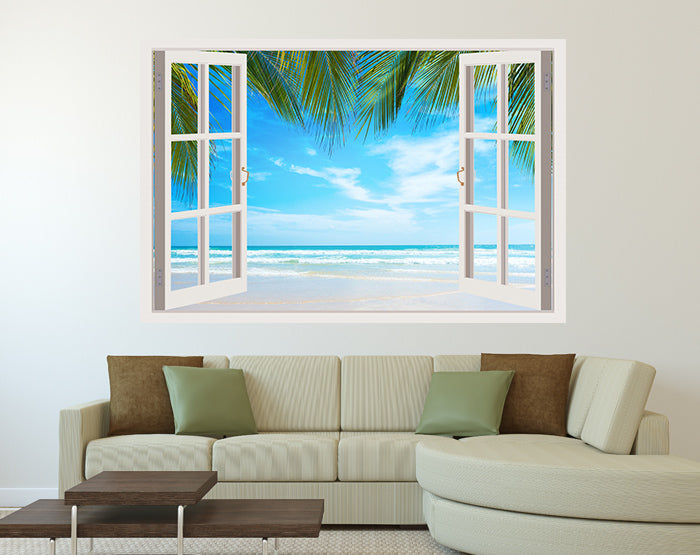IMPRESSIVE 3D WINDOW WALL DECALS, REMOVABLE WALL STICKERS, WALL DECOR