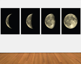 Moon Phases Set Of 4 Wall Decals