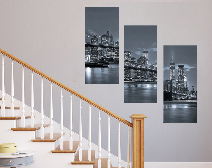NYC wall stickers set, Removable Vinyl