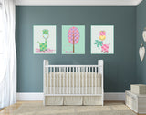 Kids Room Decor Set of 3 decals