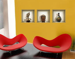 *** 3D WALL Stickers, NICHE illusion set, Removable Vinyl