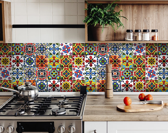 Special deal for Brad's Deals customers! 3 SETS OF 24 PCS FOR 50$- 4 x 4 inch Decorative Tile stickers Peel & Stick3 SETS OF 24 PCS FOR 50$- 4 x 4 inch Decorative Tile stickers Peel & Stick