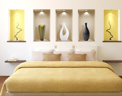 ... 3D Wall Art Niche, Sticker Set, Wall Decor, Wall Decals Living Room, ...