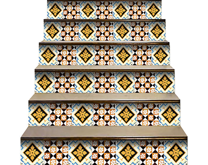 Decorative Tile stickers set of 24 Peel & Stick