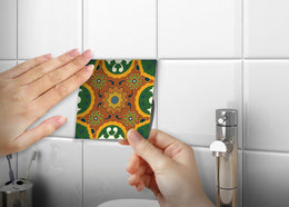 Decorative Tile stickers set of 24 Peel & Stick Heat Resistant & Waterproof