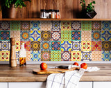 furniture/ Ceramic/ Bathroom/ Glass/ Kitchen/ Window Tile stickers set of 24 Peel & Stick