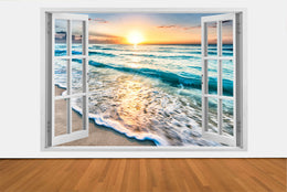 ***IMPRESSIVE 3D WINDOW WALL DECALS, REMOVABLE WALL STICKERS, WALL DECOR