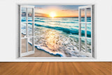 SUPER SALE IMPRESSIVE 3D WINDOW WALL DECALS, REMOVABLE WALL STICKERS, WALL DECOR