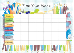 Week planner set of 10 - Enjoy & Plan your week