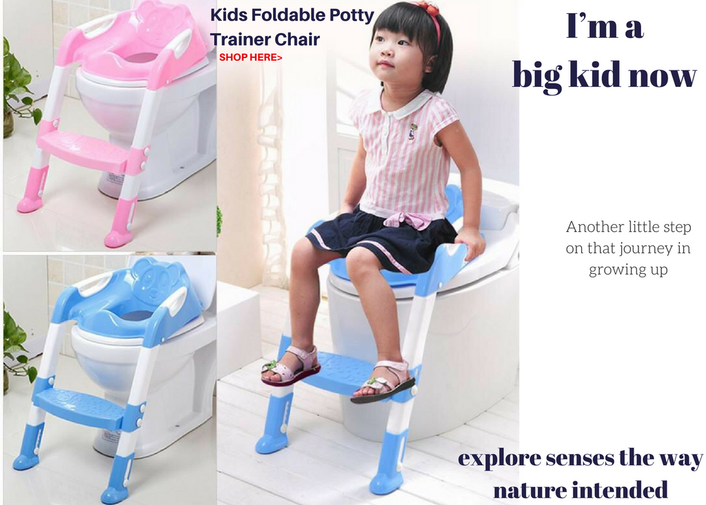 miTeigi Toddler Kids Foldable Potty Training Chair Infant Child Childs Bathroom Accessories