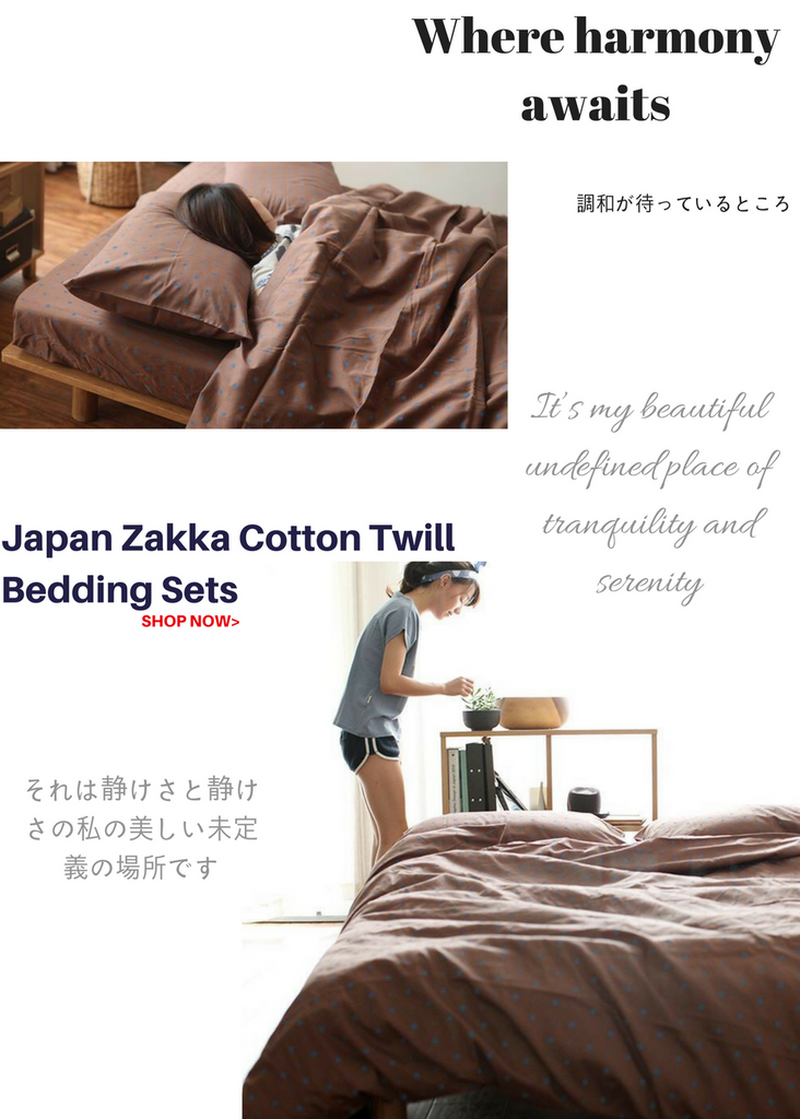 miTeigi Bedroom Japanese Zakka Duvet Sets Home Decor Bedding Accessories
