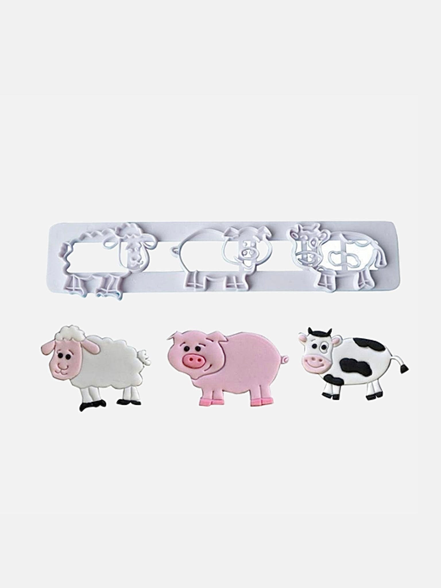 Biscuit Mold       Cute farm animal cutting mold pig sheep cow cartoon DIY fondant cake bakeware molds Trend