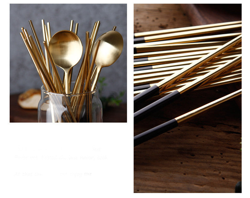 Korean Stainless Steel Chopsticks Sets Chinese Chopstick Korea Japanese Flatware Cutlery Tableware Style X