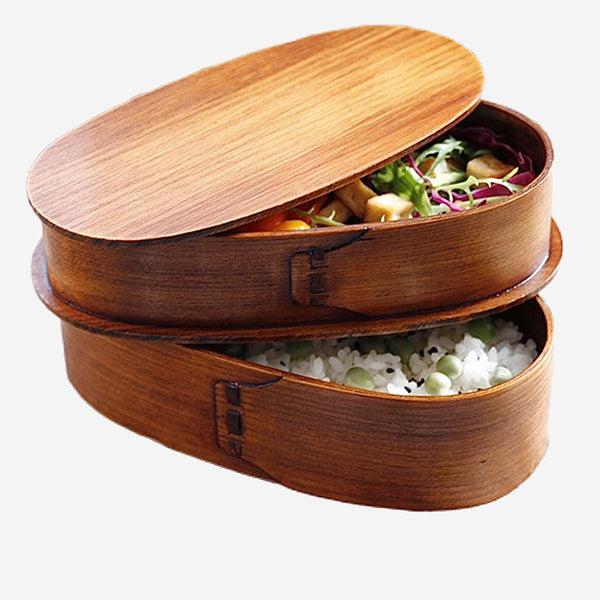 Japanese Wooden Kitchen Bento Lunch Boxes