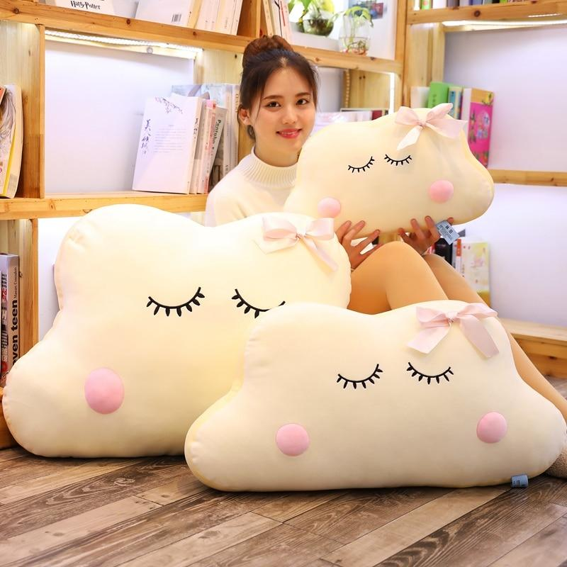 Big Size Cute Japanese Anime Cloud Plush Doll Pillow Soft Cushion Kawaii Clouds Stuffed Toys For Children Baby Kids Adult Gift Bedroom Gifts
