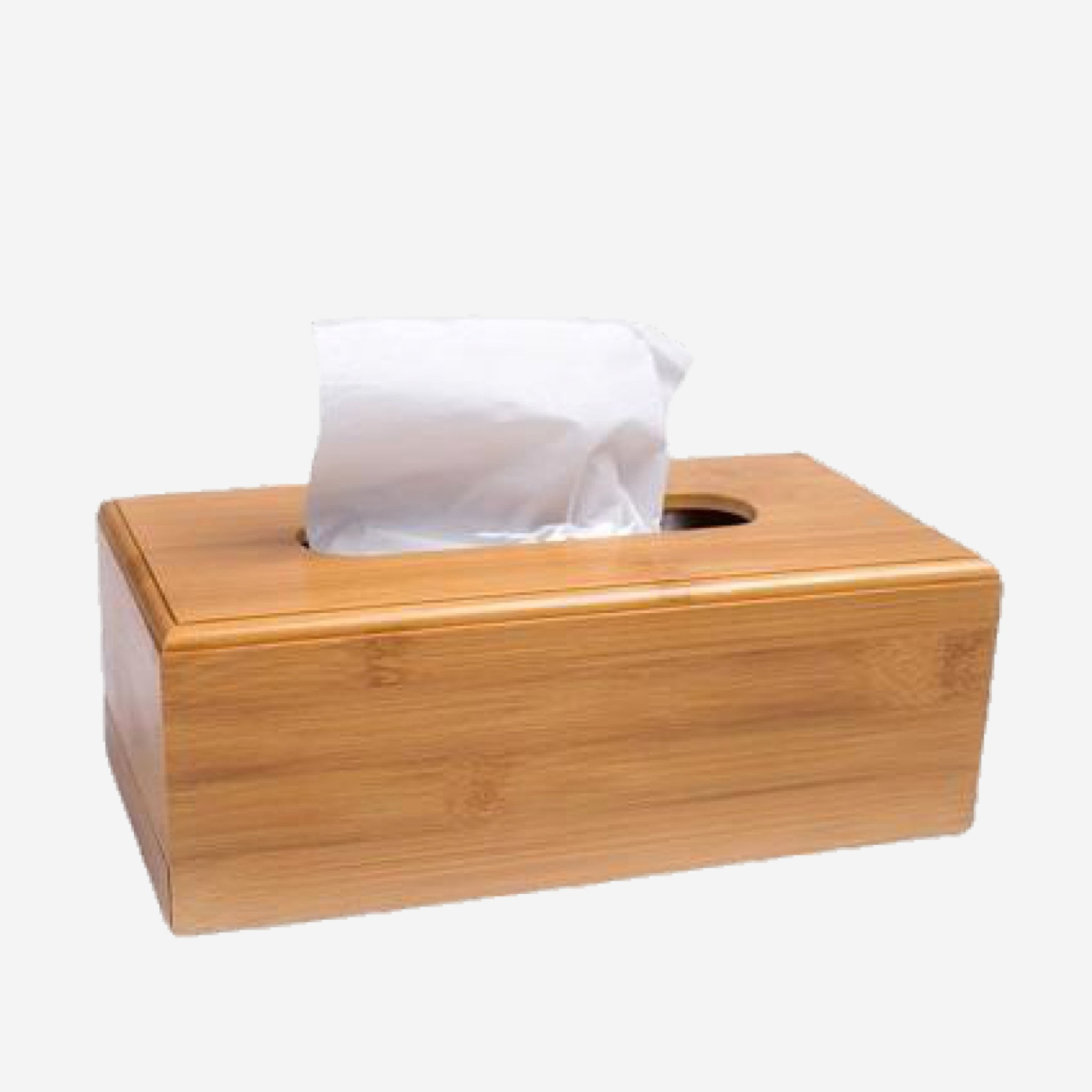Modern Large Rectangle Bamboo Wood Tissue Box Creative Seat Type Roll Paper Tissue Canister Eco-Friendly Wooden Table Decor Trend