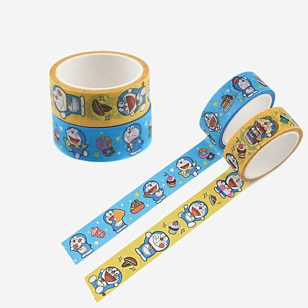 Doraemon Anime Washi Tape       Cartoon Decorative Adhesive Tape Masking Tape For Stickers Scrapbooking DIY Stationery Tape Trend