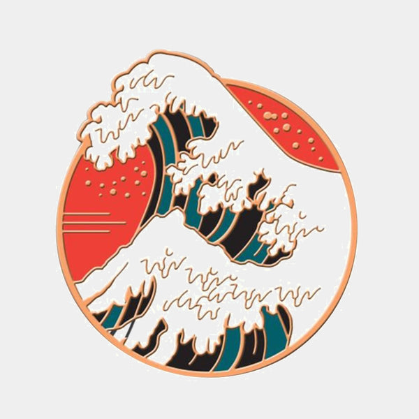 The Great Wave Enamel Pin  Lapel Pins Japan Broach Trend