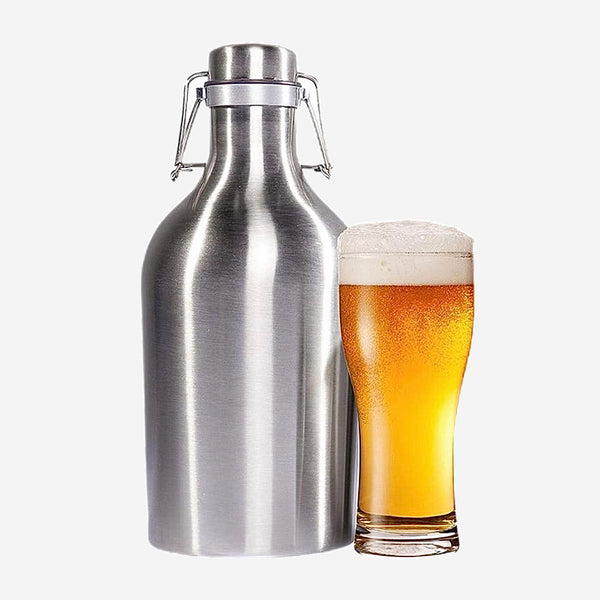 35oz 64oz 304 Stainless Steel Keg with Swing Top Home-brew Beer Growler Food Grade Home Brew for Beer Wine Apple Fruit Barware Tools Trend