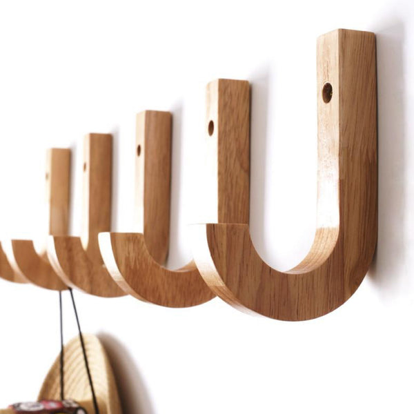 Modern Wood Coat Racks Wall Hanging Hook Hanger Decoration for Foyer / Bathroom / Kitchen / Bedroom Storage Holders J Hook Trend