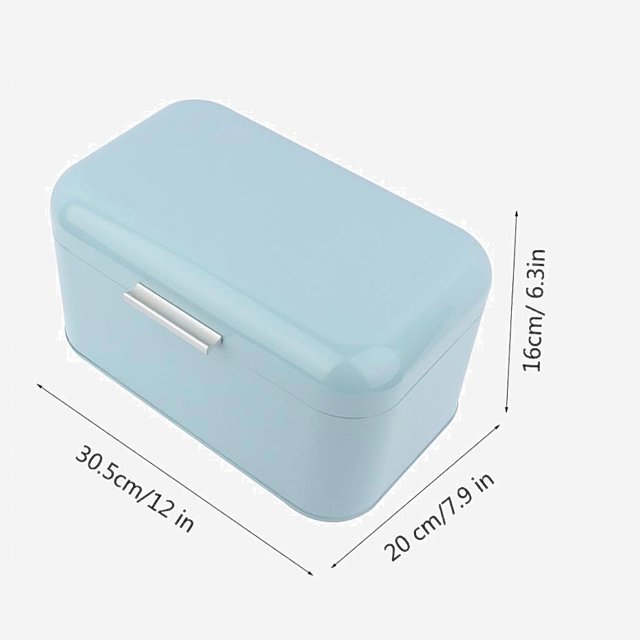 Retro Metal Bread Box Bread Storage Organizer Boxes Solid Color Large Capacity Bin Kitchen Storage Container Size Chart