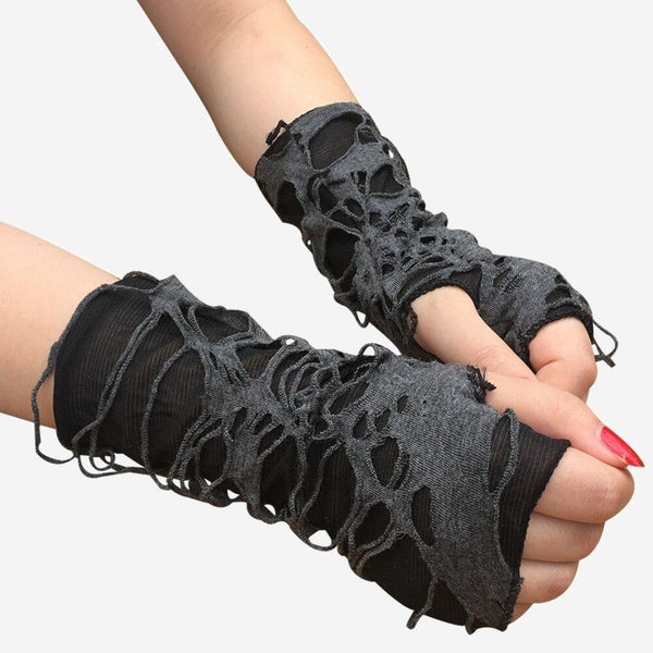 Punk Fingerless Gloves    Creative Black Hole Sunscreen Concealer Trend