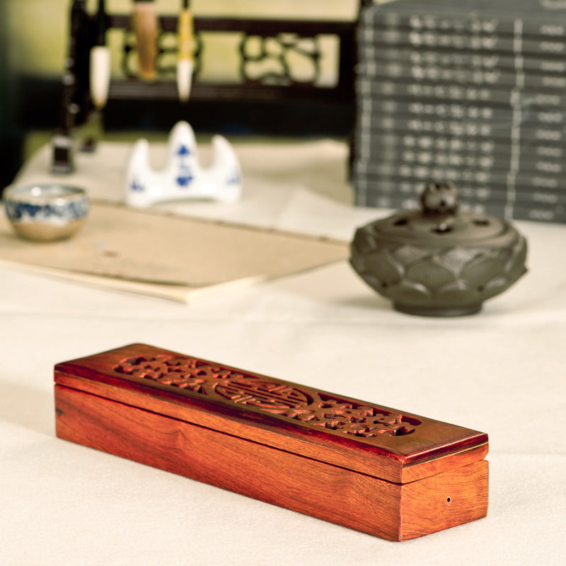 Vietnamese rosewood incense sticks box Vietnam Aromatherapy Accessories Style C