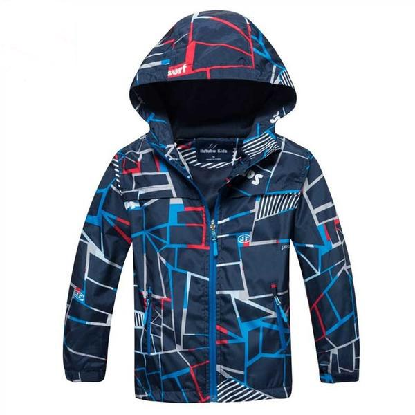 Childs Blue Polar Fleece Windbreaker Waterproof Jackets Gender Neutral Boys Girls Apparel Kids Clothing