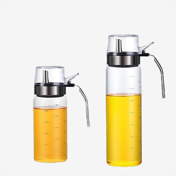 Stainless Steel Olive Oil Dispenser Lead-Free Glass Bottle Kitchen Vinegar Soy Oil Salad Dressing Container Trend