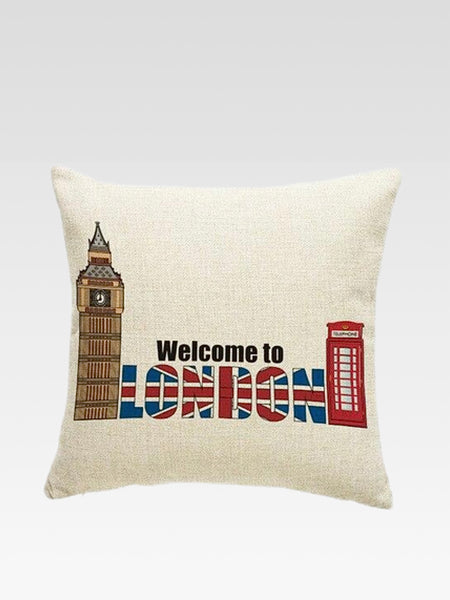 Luxury London Cushion Cover   Cotton linen London print home decoration car sofa pillow cushion covers Trend