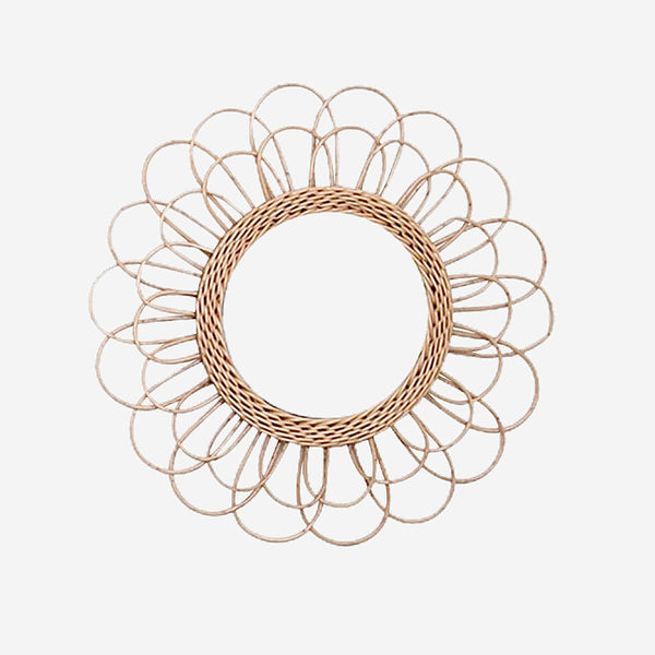 Bohemian Rattan Wicker Wall Mirror Trend