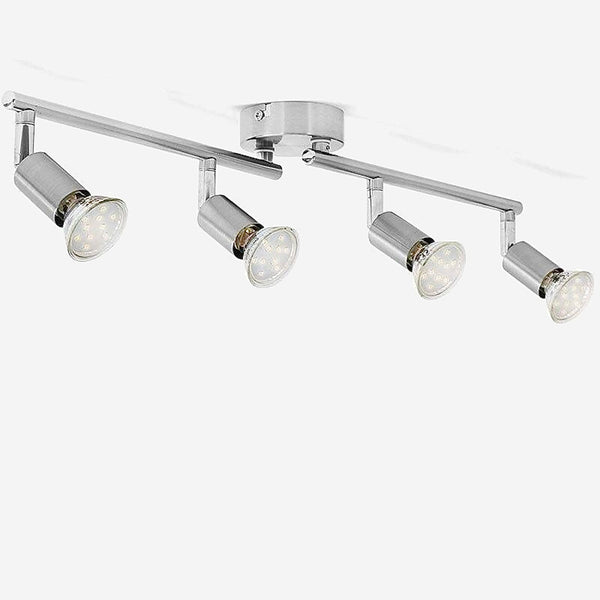 Rotatable Ceiling Lights     Angle Adjustable Bar Lamp GU10 LED Bulbs 4 Head Spot Light Showcase Wall Scones Kitchen Living Room Cabinet Spot Lighting Trend