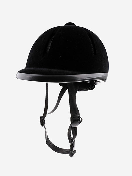Kids Horse Riding Helmet     Black Velvet Equestrian Rider Safety Head Hat 48-54cm Pro Horse Riding Helmets Trend