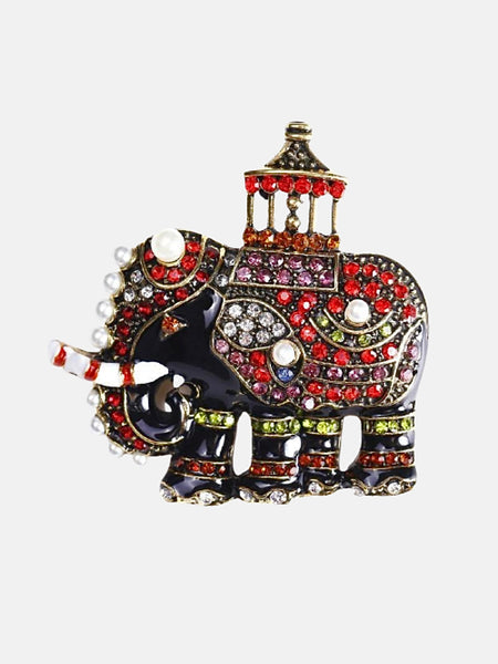 Enamel Elephant Brooch   Luxury crystal animal pin brooches Jewelry party banquet pins clothes Jewellery accessories Trend
