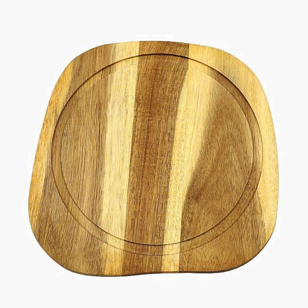 Natural Acacia Wood Cutting Board with Juice Groove Wooden Food Grade Cheese Fruit Serving Boards Trend