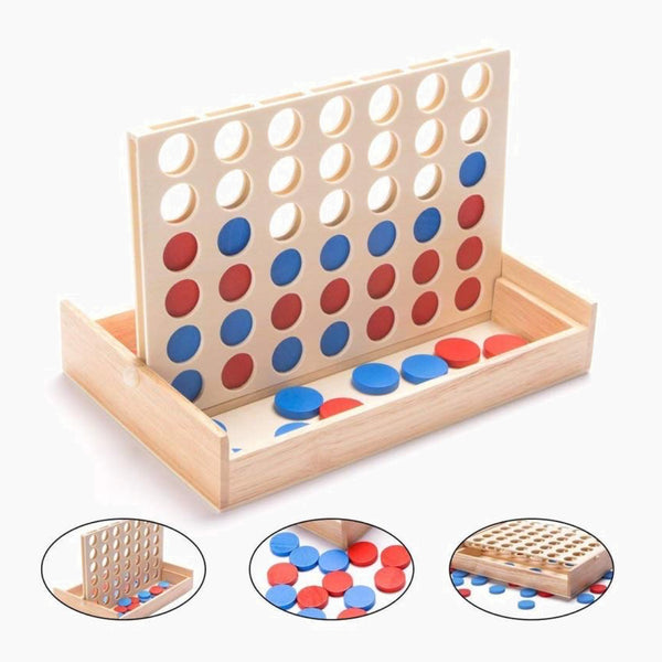Line Up Classic Family Board Fun Educational Toy for Kids Children Boys Girls Gifts Four in A Row Wooden Bingo Game Toy Trend
