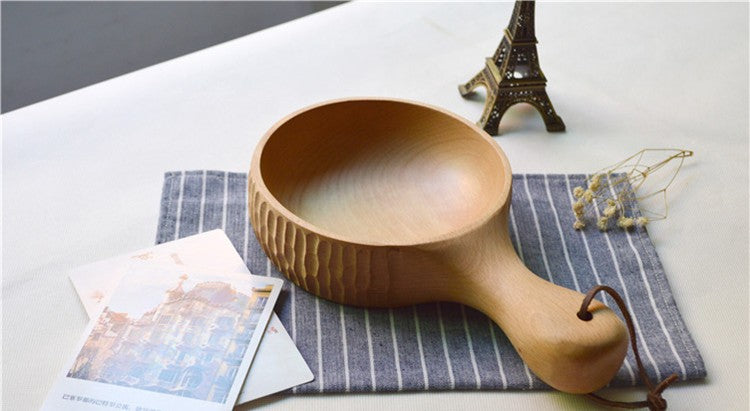 Handmade Wooden Japanese Bowl Japan Wood Dining Tableware Accessories Design B