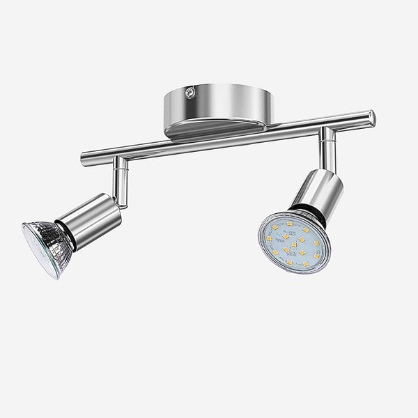 Rotatable Ceiling Lights     Angle Adjustable Bar Lamp GU10 LED Bulbs 2 Head Spot Light Showcase Wall Scones Kitchen Living Room Cabinet Spot Lighting Trend