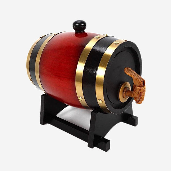 1.5L or 3L Vintage Oak Wood Barrel Beer Keg Brewing Equipment Wooden Wine Barrels Dispenser for Rum Whisky Pot Barware Accessories Trend
