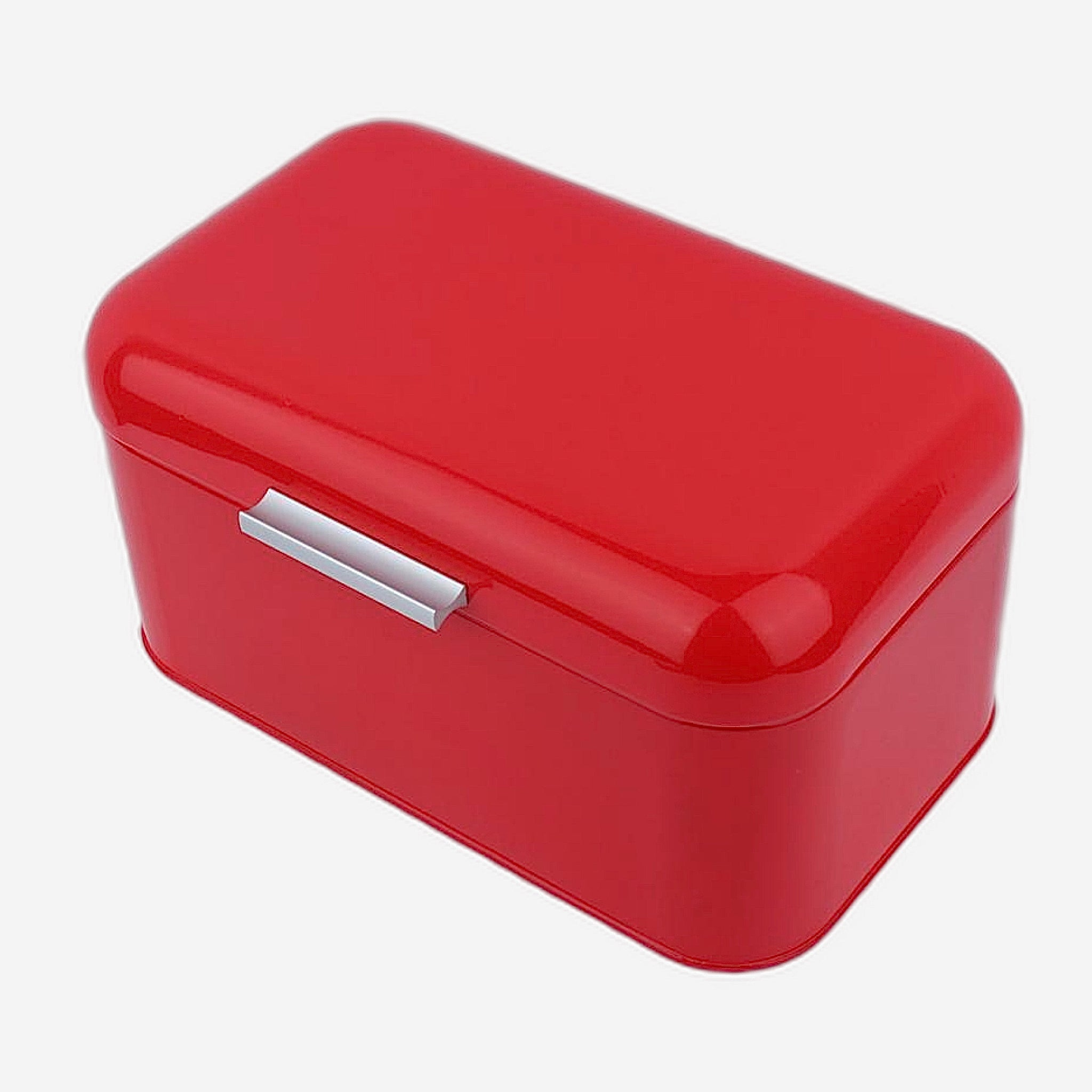 Retro Red Metal Bread Box Bread Storage Organizer Boxes Solid Color Large Capacity Bin Kitchen Storage Container Trend
