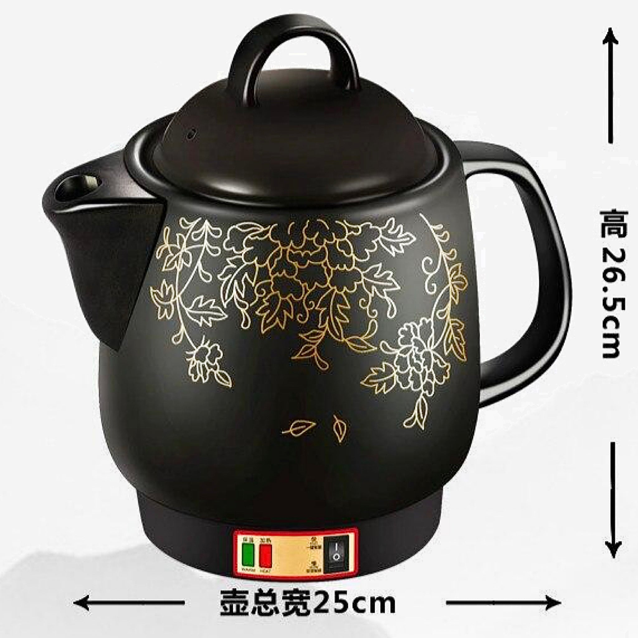 Electric kettle Full automatic decoction of Chinese medicine pot ceramic casserole Size Chart